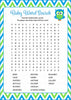 Baby Word Search - Printable Download - Blue & Green Baby Shower Game - B2002