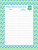Baby Shower Guest List Set - Printable Download - Blue & Green Baby Shower Decorations - B2002