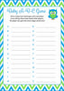 Baby ABC Game - Printable Download - Blue & Green Baby Shower Game - B2002