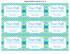 Diaper Raffle Tickets - Printable Download - Blue & Green Baby Shower Invitation Inserts - B2002