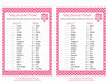 Baby Animals Match Game - Printable Download - Pink Polka Baby Shower Game - B2003
