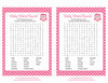 Baby Word Search - Printable Download - Pink Polka Baby Shower Game - B2003
