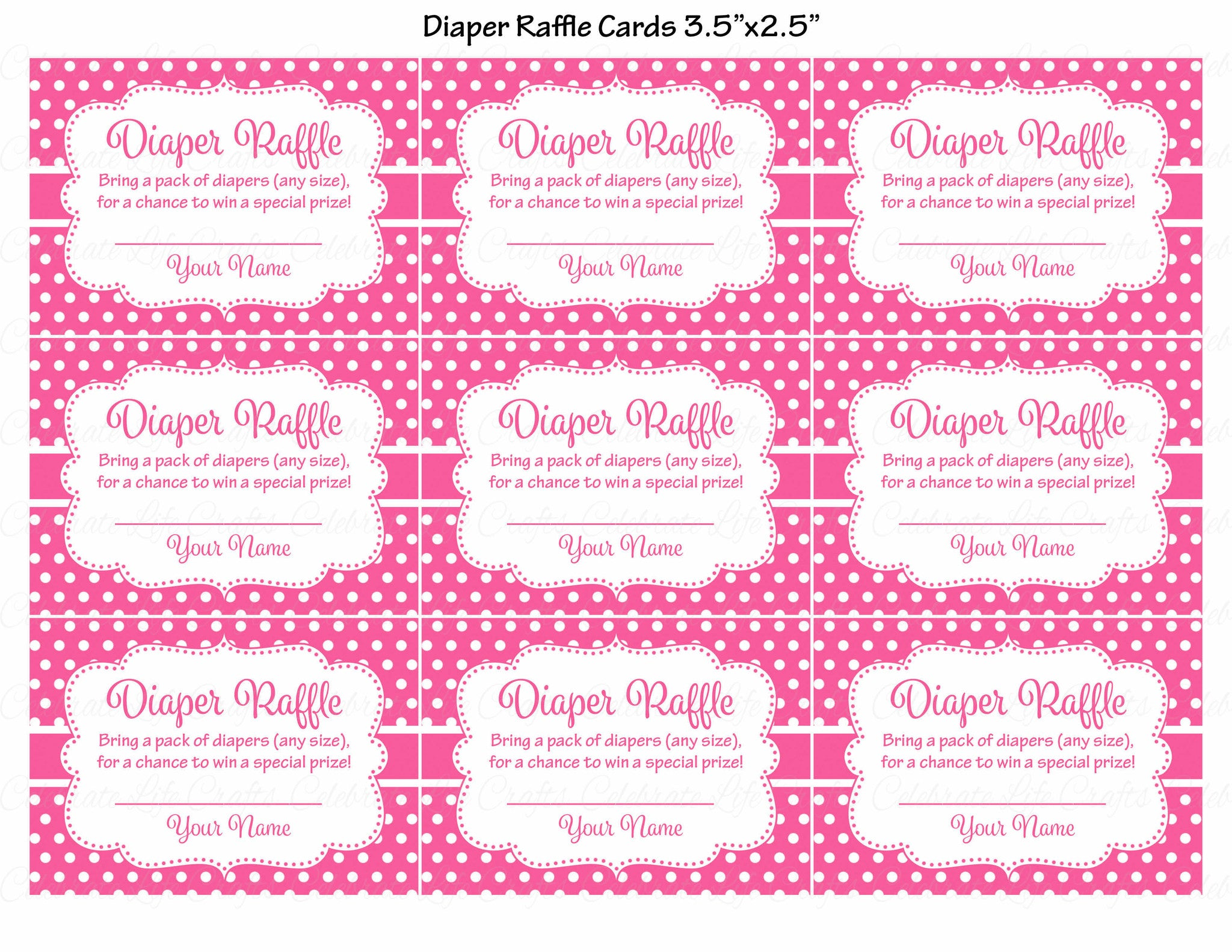 Printable Diaper Raffle Tickets Oyle Kalakaari Co