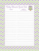 Baby Shower Guest List Set - Printable Download - Purple & Green Baby Shower Decorations - B2005