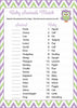Baby Animals Match Game - Printable Download - Purple & Green Baby Shower Game - B2005