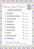 Name That Price Game - Printable Download - Purple & Green Baby Shower Game - B2005