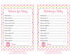 Wishes for Baby Cards - Printable Download - Rainbow Polka Baby Shower Activity - B2009