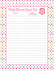 Baby Shower Guest List Set - Printable Download - Rainbow Polka Baby Shower Decorations - B2009