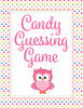 Candy Guessing Game - Printable Download - Rainbow Polka Baby Shower Game - B2009