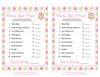 Name That Price Game - Printable Download - Pink & Green Baby Shower Game - B2010