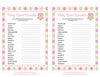 Baby Word Scramble - Printable Download - Pink & Green Baby Shower Game - B2010