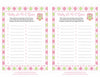 Baby ABC Game - Printable Download - Pink & Green Baby Shower Game - B2010