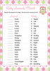 Baby Animals Match Game - Printable Download - Pink & Green Baby Shower Game - B2010