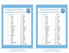 Baby Animals Match Game - Printable Download - Blue Polka Baby Shower Game - B2011
