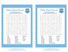 Baby Word Search - Printable Download - Blue Polka Baby Shower Game - B2011