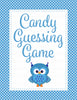 Candy Guessing Game - Printable Download - Blue Polka Baby Shower Game - B2011