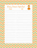 Baby Shower Gift List Set - Printable Download - Orange & Green Baby Shower Decorations - B21001