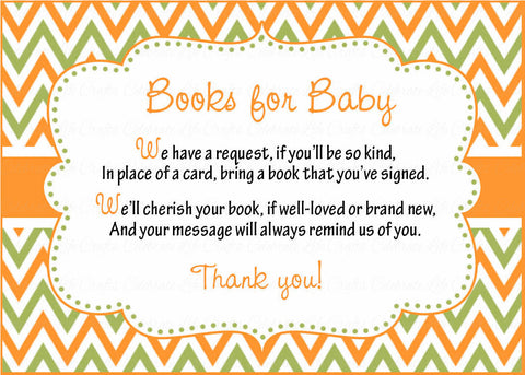 Books for Baby Invitation Inserts for Baby Shower - Little Pumpkin ...