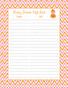 Baby Shower Gift List Set - Printable Download - Orange & Pink Baby Shower Decorations - B21003