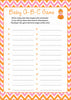 Baby ABC Game - Printable Download - Orange & Pink Baby Shower Game - B21003