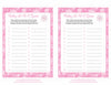 Baby ABC Game - Printable Download - Pink Bokeh Winter Baby Shower Game - B22001