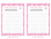 Baby Name - Printable Download - Pink Bokeh Winter Baby Shower Game - B22001