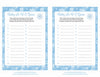 Baby ABC Game - Printable Download - Blue Bokeh Winter Baby Shower Game - B22002