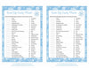 Sweet Life Candy Match Game - Printable Download - Blue Bokeh Winter Baby Shower Game - B22002