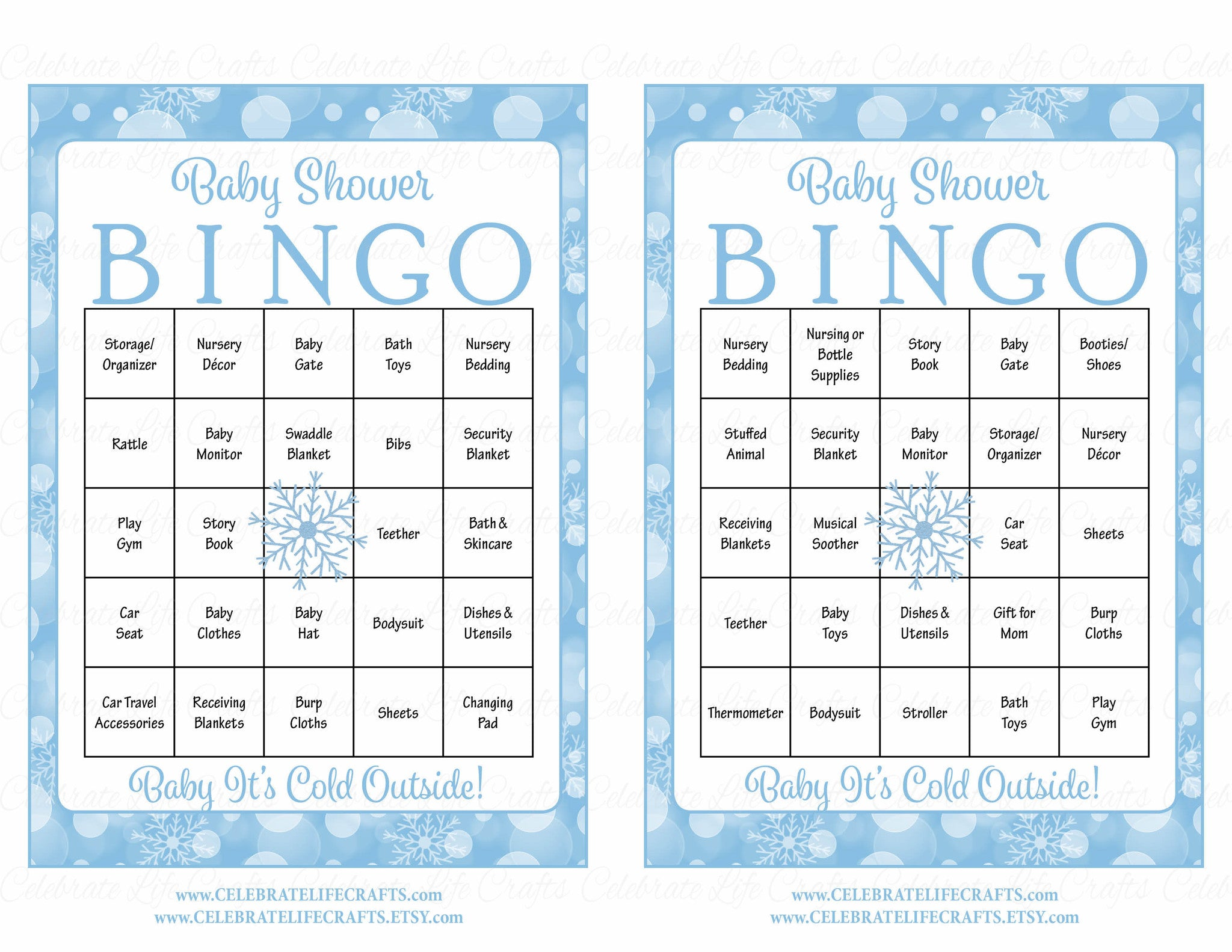 Winter Baby Shower Game Download for Boy