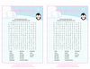 Baby Word Search - Printable Download - Pink Penguin Winter Baby Shower Game - B22005