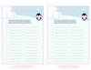 Baby Name - Printable Download - Pink Penguin Winter Baby Shower Game - B22005