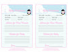 Prediction & Advice Cards - Printable Download - Pink Penguin Winter Baby Shower Activity - B22005