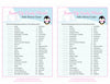 Sweet Life Candy Match Game - Printable Download - Pink Penguin Winter Baby Shower Game - B22005