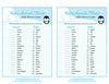 Baby Animals Match Game - Printable Download - Blue Penguin Winter Baby Shower Game - B22006