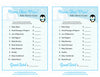 Name That Price Game - Printable Download - Blue Penguin Winter Baby Shower Game - B22006