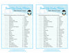 Sweet Life Candy Match Game - Printable Download - Blue Penguin Winter Baby Shower Game - B22006
