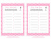 Baby Name - Printable Download - Pink Polka Baby Shower Game - B23001