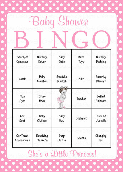 Princess Baby Shower Game Download For Girl Baby Bingo