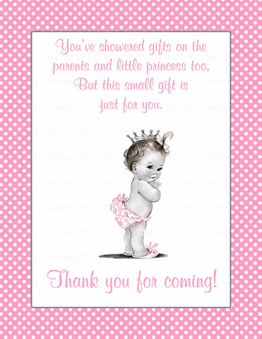 Thank You Favor Sign - Printable Download - Pink Polka Baby Shower Decorations - B23001
