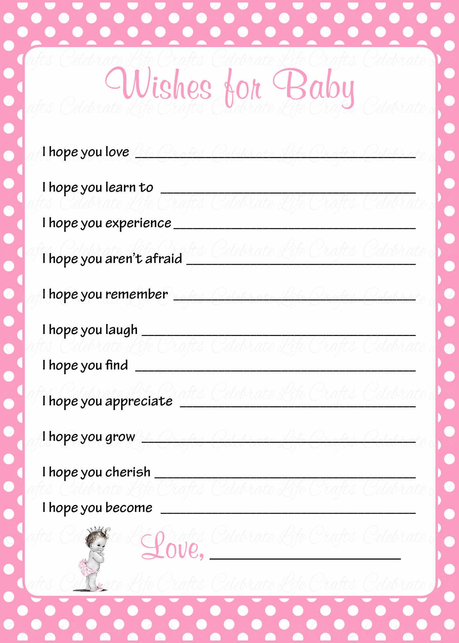 Wishes for Baby Shower Activity Princess Baby Shower Theme for