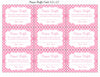 Diaper Raffle Tickets - Printable Download - Pink Polka Baby Shower Invitation Inserts - B23001