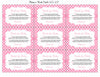 Books for Baby Cards - Printable Download - Pink Polka Baby Shower Invitation Inserts - Pink Polka - B23001