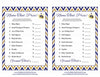 Name That Price Game - Printable Download - Navy & Gold Baby Shower Game - B23004