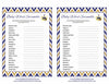 Baby Word Scramble - Printable Download - Navy & Gold Baby Shower Game - B23004