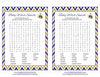 Baby Word Search - Printable Download - Navy & Gold Baby Shower Game - B23004