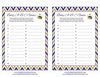 Baby ABC Game - Printable Download - Navy & Gold Baby Shower Game - B23004