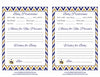 Prediction & Advice Cards - Printable Download - Navy & Gold Baby Shower Activity - B23004