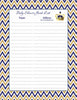Baby Shower Guest List Set - Printable Download - Navy & Gold Baby Shower Decorations - B23004