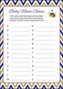 Baby Name - Printable Download - Navy & Gold Baby Shower Game - B23004
