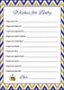 Wishes for Baby Cards - Printable Download - Navy & Gold Baby Shower Activity - B23004